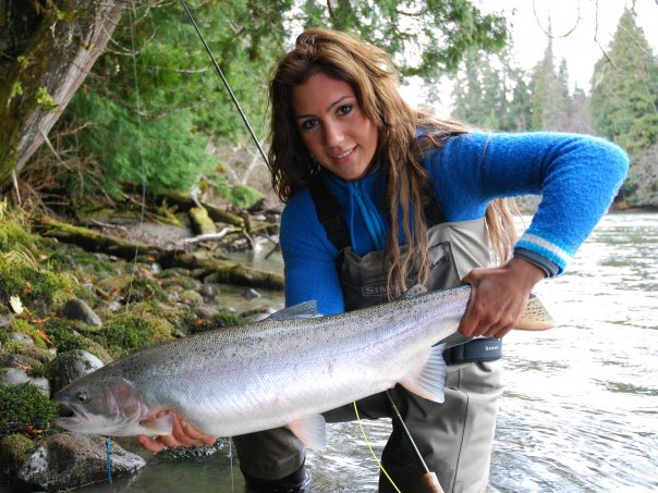 News meet miss personality and top fly fishing guide for Fishing for girls