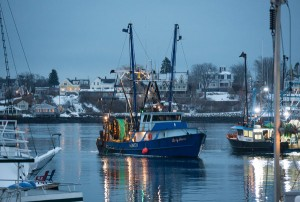 The Lady Jane, a fishing boat, in Gloucester, Mass. The New England Fishery Management Council voted to impose reductions of 77 percent in the Gulf of Maine cod catch.