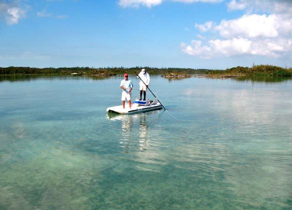 News: Entrepreneurship hits coastal fly fishing conveyances… SUPs and an inflatable flats boat.