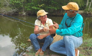 Fly fishing specialists Jon Cave, right, and Ruth Stokes will be among the instructors in the Casting for Recovery retreat on April 6-8 at the Hilton Garden Inn in Lake Mary.