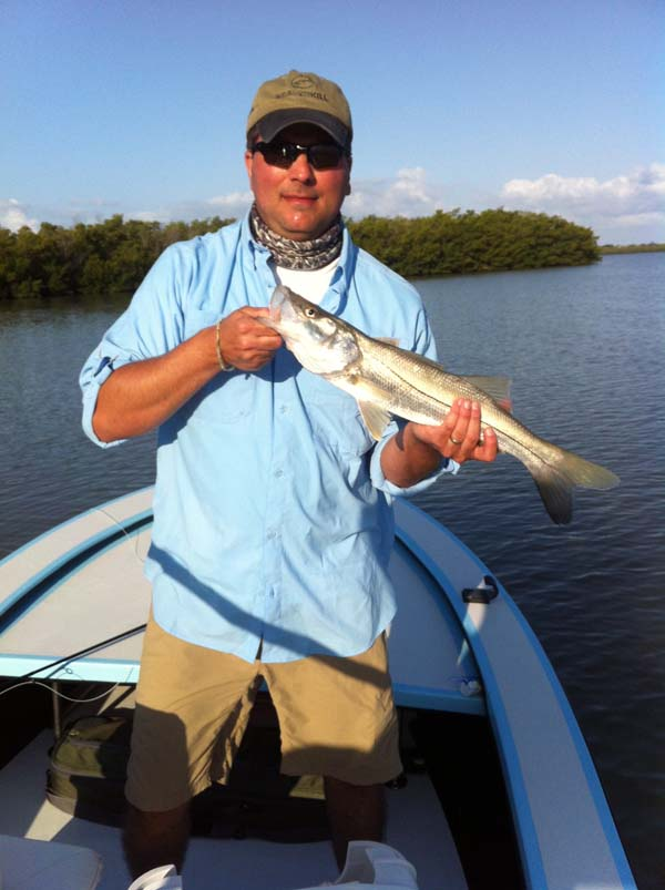Anthony with a nice snook caught in Naples, Florida