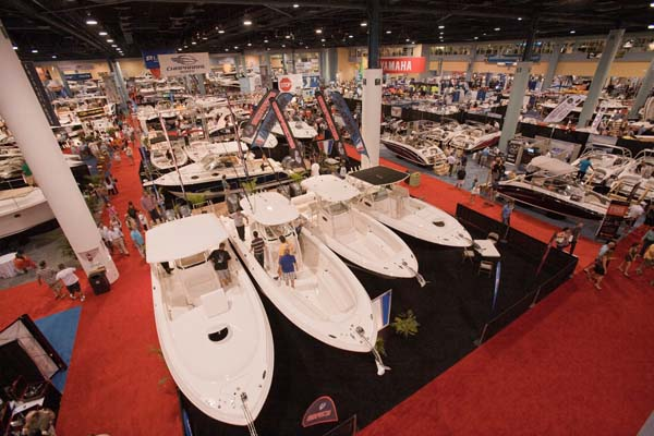 The Miami Convention Center is where you'll find the flats boats, bay boats, gadgets and the like as well being the place where all the seminars are held.