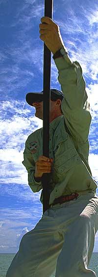 Capt. Duane Baker on the hunt.