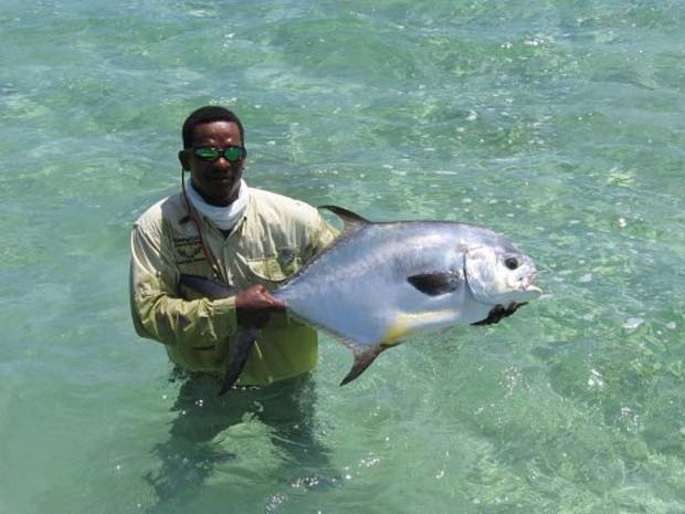 Docky Smith is perhaps the only guide on Long Island, Bahamas that understands the ways of permit and tarpon, and targets them for clients.