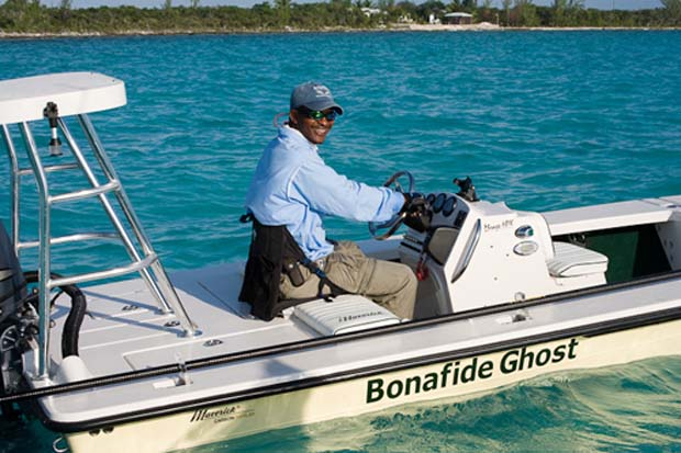 """James """"Docky"""" Smith He has been quoted in many professional fishing magazines of American and international origins, and referred to as """"The Bahamas Fly-Fishing Guide"""", as """"one of the best Bonefish Guides in the Bahamas."""""""