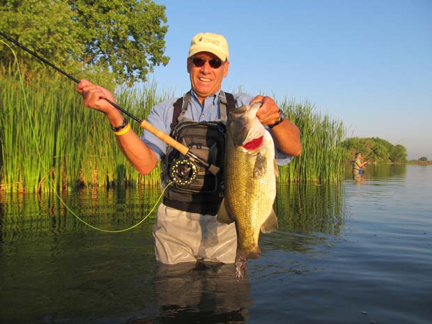 Largemouth on a fly. Photo credit Flikr.