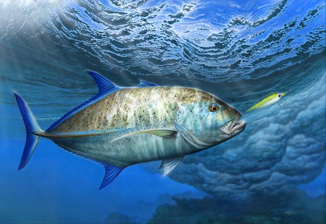 Giantess Carrei: Friday Fish Frame: Craig Bertram Smith's Bluefin Trevally