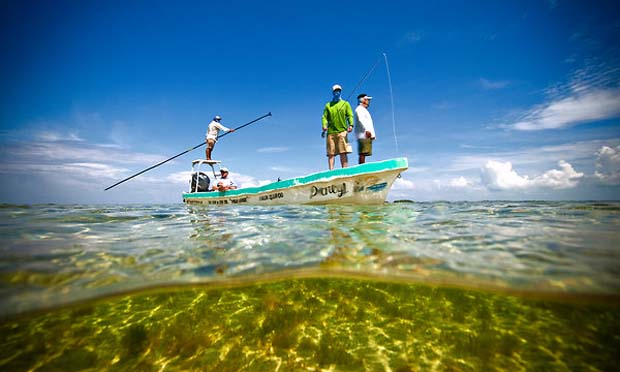 With the Yucatán Peninsula's emergence as a popular flats fishing destination, local lobstermen have been recruited as fly-fishing guides to lead anglers to bonefish, tarpon and permit. Matt Jones photo.