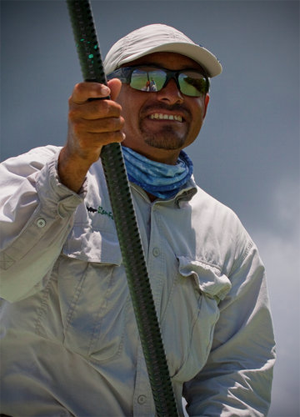 The fishing guide Charlie Rendon helps recreational fisherman in the Caribbean. Matt Jones photo.