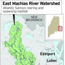 East Machias River, Maine, watershed.