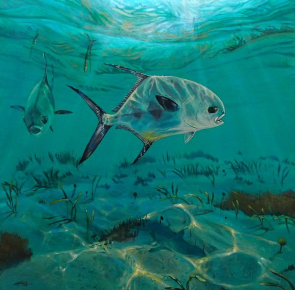 This permit painting is a marvelous study in light and biology.