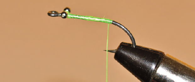 1. Set the hook in the vise and sharpen as necessary.