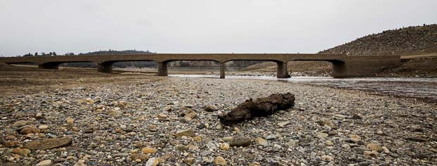 California, suffering from the worst drought in 500 years is about to also lose a generation of steelhead and salmon. Huff Post photo.
