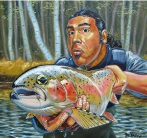 Derek DeYoung self portrait.