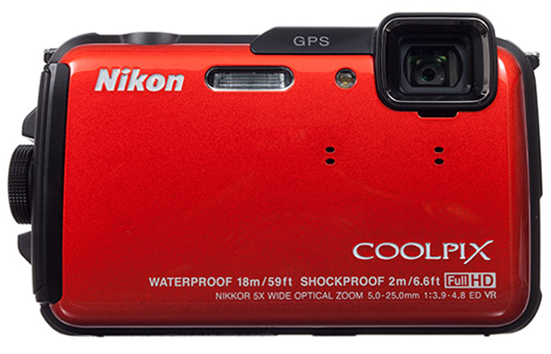 Nikon Coolpix AW110 comes in four colors: black, blue, red and camouflage. Photo Nikon.