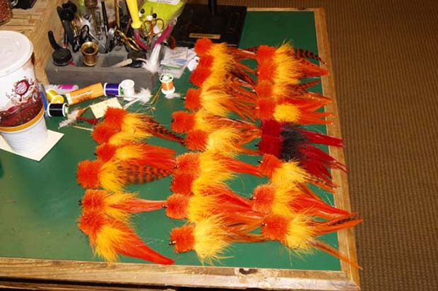You can use any color fly to catch a spinner, as long as it's orange. Flies are 6- to 8-inches long and bushy. Grant Gisondo photo.