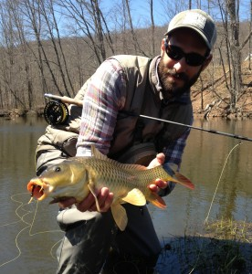 Capt. Vincent Catalano with a nice common carp.