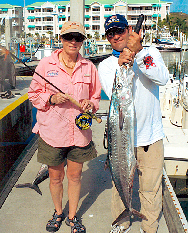 Key West king mackerel caught on 16-pound test using a bait-fish fly. Guide was  Capt. Robert Trossset. Photo provided by the IGFA.