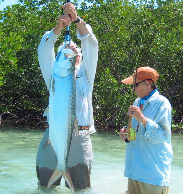 In Key West on April 11 in 2011, fishing with famed inshore guide Doug Kilpatrick, Ballantyne successfully landed and released a 17-pound tarpon (Megalops atlanticus) on a 6-pound tippet. The fish was landed after a 25 minute fight. It ate a Dark Rabbit strip fly. A record at the time, but since bested. However, Ballantyne currently holds five IGFA world records for tarpon on a fly.