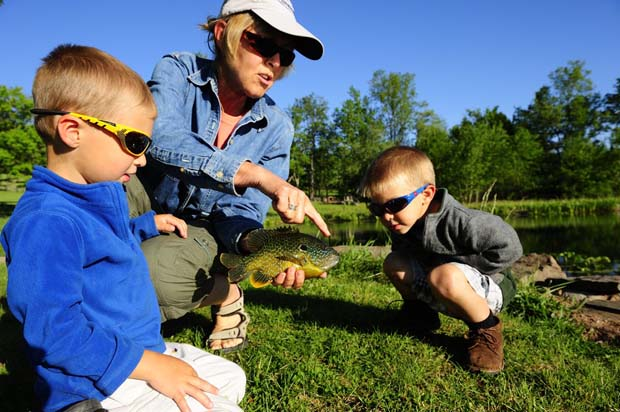Teaching fly fishing is a habit we should all have. Beck photo.