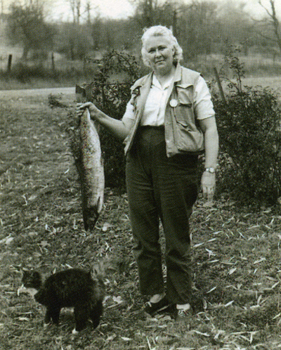 Darbee was an accomplished angler. as evidenced by the catch. From the collection of the American Fly Fishing Musem.