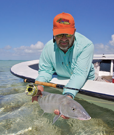 Bonefish of this size are most common on the west shoreline, and on some flats close to the Club.