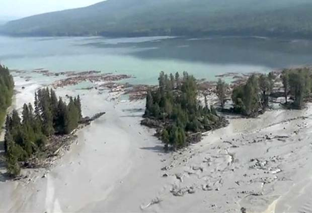 Imperial Metals' My. Polley Mine spill. Not a living thing.