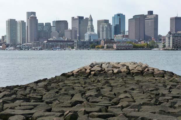 Boston Harbor and Skyline from Lo Presti Park, East Boston, MA