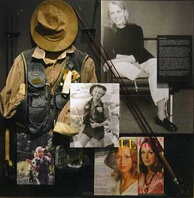 For her 1999 Estee Lauder advertisement, Grahamcast her own rod and wore the shirt, vest, and hat that she uses while instructing and fishing. From the collection of Karen A. Graham.