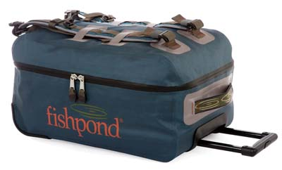 Fishpond's Westwater is one of several such rolling carry-on luggage products that allow you to bring it all with you for that four day trip to Andros, Bahamas.