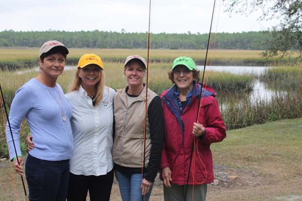 Fly Fishing School: Saltwater Fly Tyers and Wanda Taylor at The Fish Camp