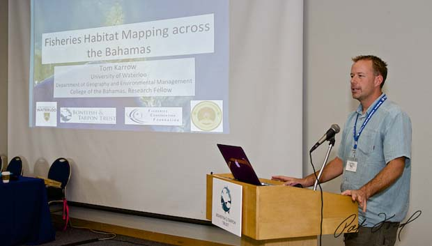 "Tom Karrow presents ""Historic knowledge use in fisheries habitat mapping across Bahamas: Ghost Stories, pioneering angling guides, their stories, their knowledge and opportunities for resource management.""  to learn more click here."