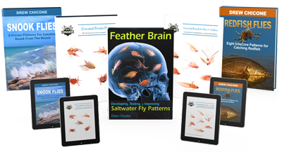 Tie better to catch more fish. Get Drew Chicone's fly tying instuctional E-Books