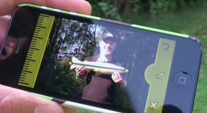 The easy to use and simple Fish-Fact app in action.