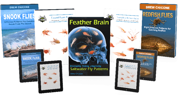 Step-by-step tying instructions to proven patterns for catching redfish, snook, bonefish and more. Redfish Flies , alone is a  175 page downloadable PDF illustrated with ultra-hi resolution images. For example, Redfish Flies captures the insights from eight saltwater fly tiers, including myself, Capt. Ron Ratliff, Capt. Daniel Andrews, Drei Stroman, Chris Kincaid, Capt. Joe Costadura, Bill Laminack, and Don Reed.