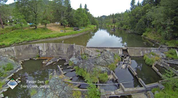 Fielder Dam Removal Oregon. Image credit RiverDesignGroup.