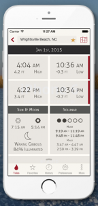 Tide predictions, solunar forecasts and sun/moon information presented in an intuitive and immersive mobile experience.