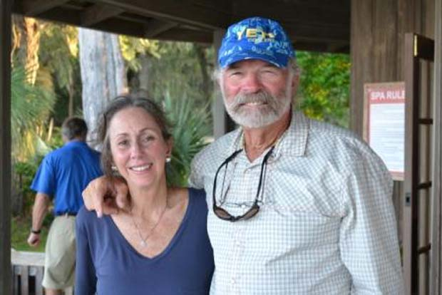 Flip with his wife Diane. Photo by cabinbluff.com.