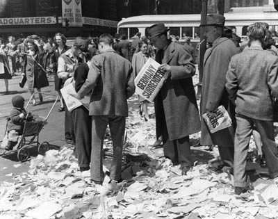 VE-Day London, England 1945.