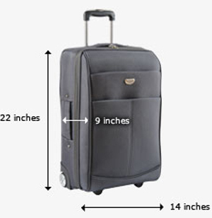 United Airlines carry-on dimension limits.