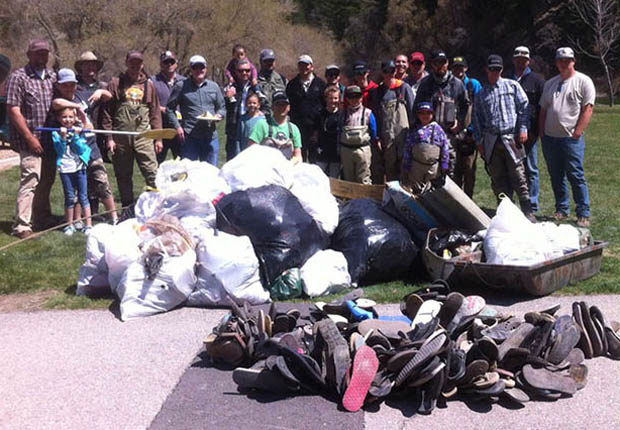 Conservation: Group litter removal beautifying a stream near you