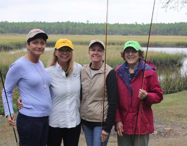 Fly Fishing Schoo sponsored by Saltwater Fly Tyers with Wanda Taylor at The Fish Camp in St. Augustine, Florida last spring .