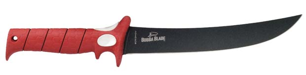 The blade is covered with a non stick surface and is bonded by Titanium in order to protect the blade from rusting and also for the meat to slide off the blade using no effort at all. The Finger and Thumb pads are added for even more control. High-carbon stainless steel is used to create the blade, it is very durable and also easy to re-sharp