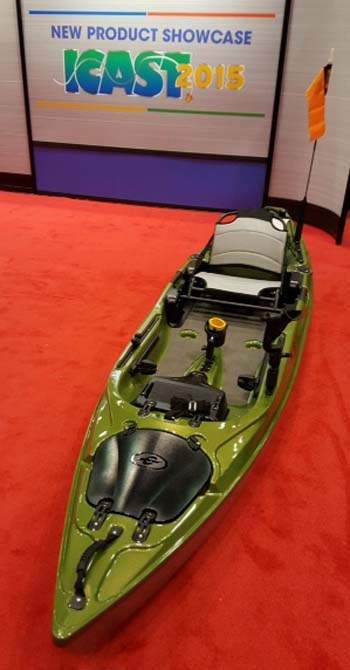 The Eddyline C135 YakAttack Edition, voted ICAST's overall best of the hundreds of new fishing equipment entries,