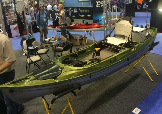 The ICAST Best of Show Boat category and Best of Show Overall. Photo by Ric Burnley, editor  Kayak Angler.