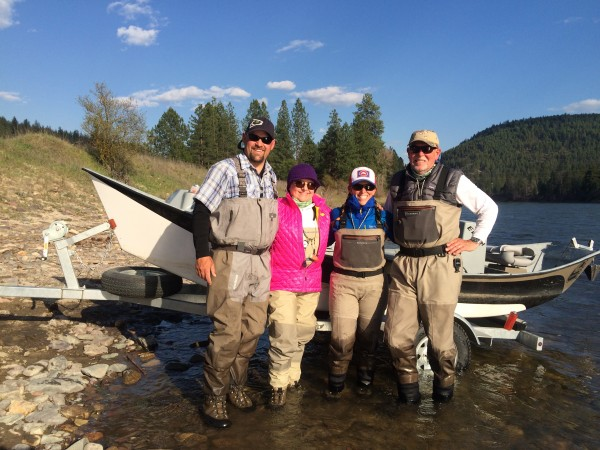 Family Photo - My parents, Britten and I fishing the Skwala Hatch in Montana.