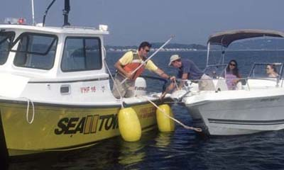 SeaTow in Boston doing what it does best, helping boaters.