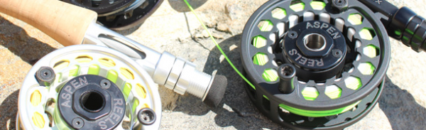 Aspen Reels come in Midsize and Large Arbor, are made in the USA and come with a 100% money back guaruntee.