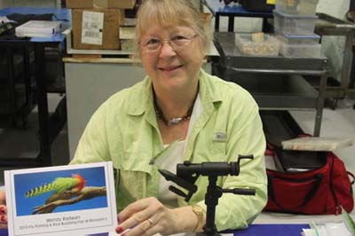 Wendy Radwan began fly casting 11 years ago, then fly fishing and about five yeas ago she became fascinated with flies and began tying. She's from central Florida. Radwan is the president of a local Reel Women club with about 20 members that try to meet once a month.
