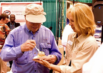 Two headliners you will see at the 2016 ICAST/IFTD Show in Orlando this year are Lefty Kreh and Wanda Taylor.